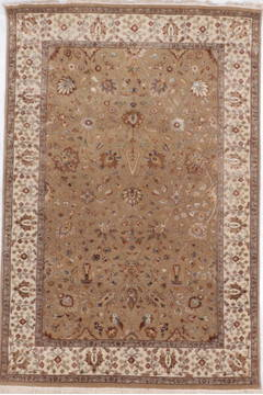 "Jaipur Brown Hand Knotted 4'1"" X 6'1""  Area Rug 905-112508"