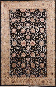 "Jaipur Black Hand Knotted 6'1"" X 9'3""  Area Rug 905-112511"