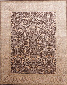"Jaipur Brown Hand Knotted 8'1"" X 10'1""  Area Rug 905-112520"