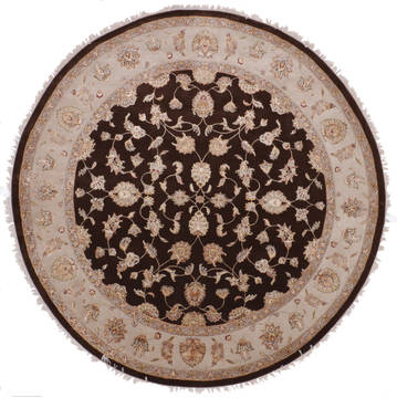 "Jaipur Brown Round Hand Knotted 9'11"" X 10'0""  Area Rug 905-112551"