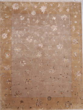 "Jaipur Grey Hand Knotted 9'4"" X 12'2""  Area Rug 905-112570"