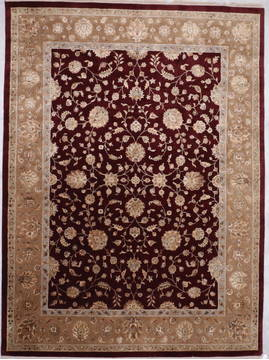 "Jaipur Red Hand Knotted 9'0"" X 12'1""  Area Rug 905-112573"