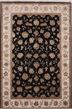 "Jaipur Black Hand Knotted 6'2"" X 9'2""  Area Rug 905-112593"