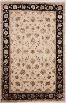 "Jaipur Beige Hand Knotted 6'0"" X 9'2""  Area Rug 905-112602"