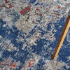 Nourison Artworks Blue 96 X 126 Area Rug  805-112698 Thumb 4