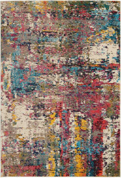 Nourison Celestial Multicolor Rectangle 4x6 ft Polypropylene Carpet 112838