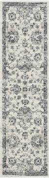 Nourison FUSION White Runner 6 to 9 ft Polypropylene Carpet 113120
