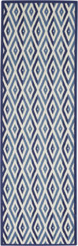 "Nourison Grafix White Runner 2'3"" X 7'6"" Area Rug  805-113375"