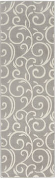 "Nourison Grafix Grey Runner 2'3"" X 7'6"" Area Rug  805-113384"