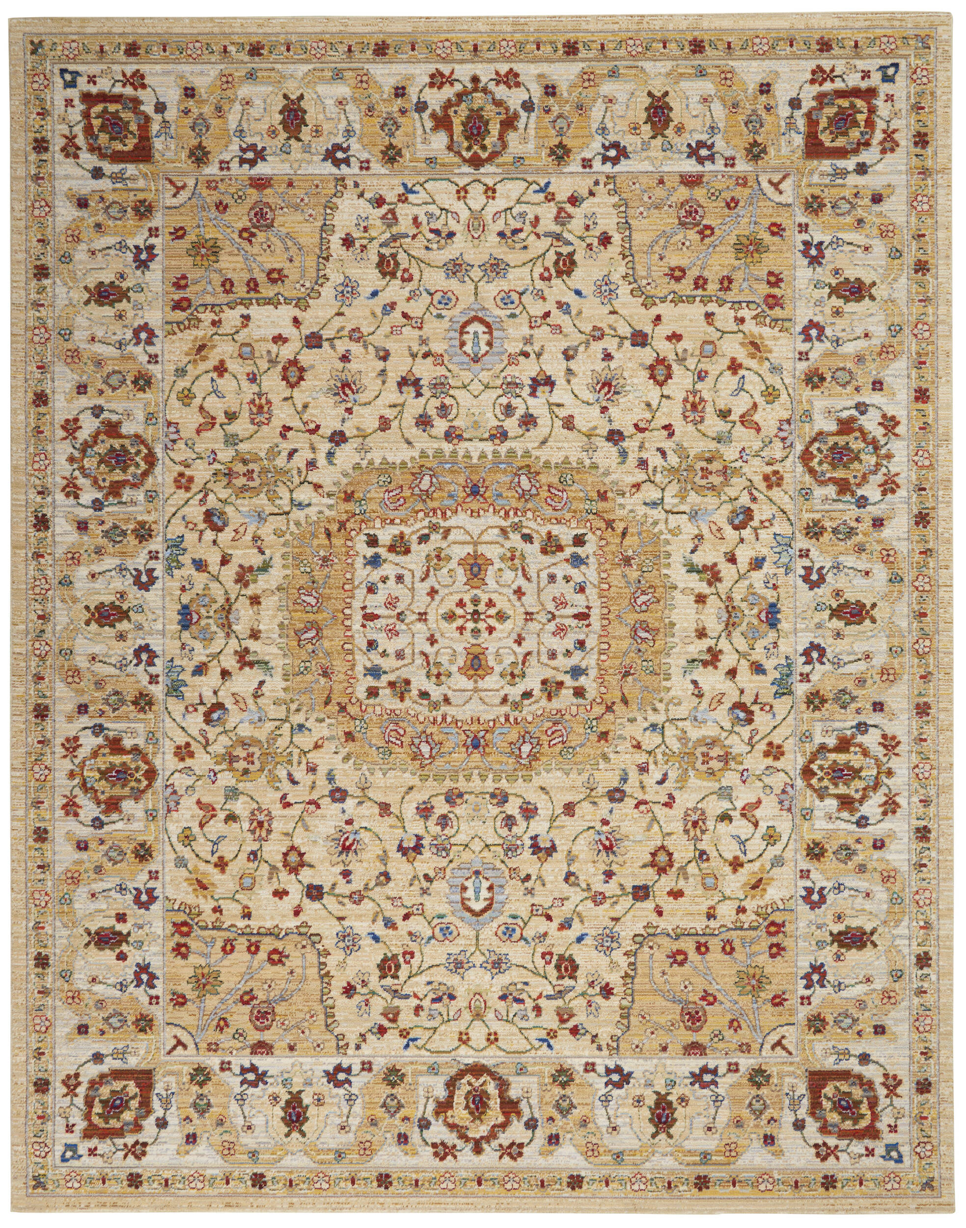 Picture of: Nourison Majestic Yellow Rectangle 8×10 Ft Wool And Nylon Carpet 114166 Sku 114166