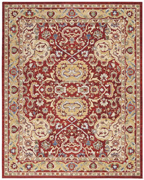 "Nourison Majestic Red 7'9"" X 9'9"" Area Rug  805-114174"