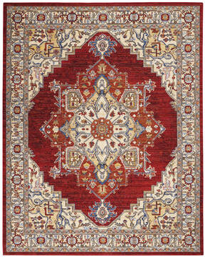 "Nourison Majestic Red 7'9"" X 9'9"" Area Rug  805-114178"