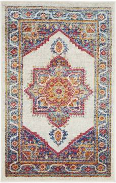 Nourison PERSIAN VINTAGE White Rectangle 3x5 ft Polypropylene Carpet 114370