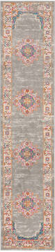 "Nourison Passion Grey Runner 1'10"" X 6'0"" Area Rug  805-114425"