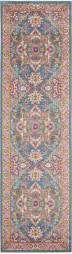 "Nourison Passion Blue Runner 1'10"" X 6'0"" Area Rug  805-114495"