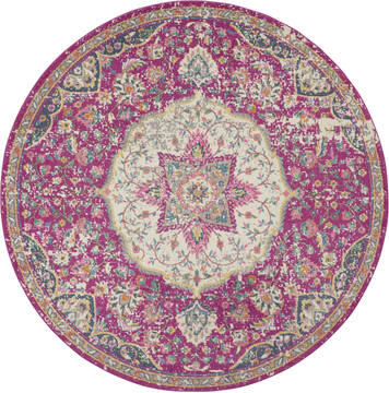 Nourison Passion Purple Round 4 ft and Smaller Polypropylene Carpet 114536