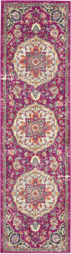 Nourison Passion Purple Runner 6 ft and Smaller Polypropylene Carpet 114539
