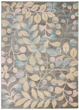 "Nourison Tranquil Grey 4'0"" X 6'0"" Area Rug  805-115017"