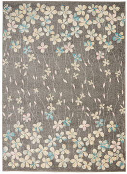 "Nourison Tranquil Grey 4'0"" X 6'0"" Area Rug  805-115043"