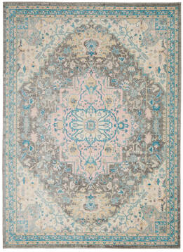 "Nourison Tranquil Grey 4'0"" X 6'0"" Area Rug  805-115109"