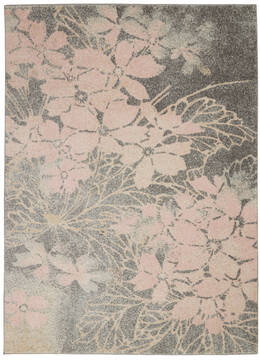 "Nourison Tranquil Grey 5'3"" X 7'3"" Area Rug  805-115126"