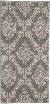 "Nourison Tranquil Grey 2'0"" X 4'0"" Area Rug  805-115150"