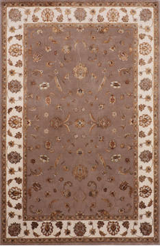 "Jaipur Brown Hand Knotted 6'1"" X 9'1""  Area Rug 905-115635"