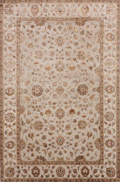 "Jaipur Grey Hand Knotted 6'0"" X 9'1""  Area Rug 905-115637"