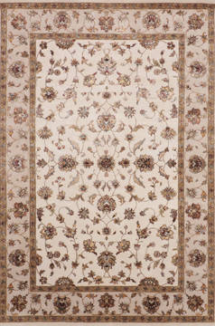 "Jaipur White Hand Knotted 6'1"" X 9'1""  Area Rug 905-115661"