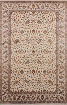 "Jaipur Beige Hand Knotted 6'0"" X 9'1""  Area Rug 905-115662"