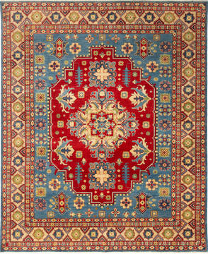 "Kazak Red Hand Knotted 8'1"" X 9'10""  Area Rug 700-115745"