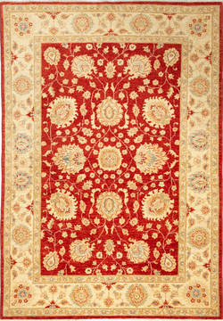 "Chobi Red Hand Knotted 5'7"" X 8'0""  Area Rug 700-115753"