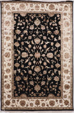 "Jaipur Black Hand Knotted 6'0"" X 9'0""  Area Rug 905-115766"