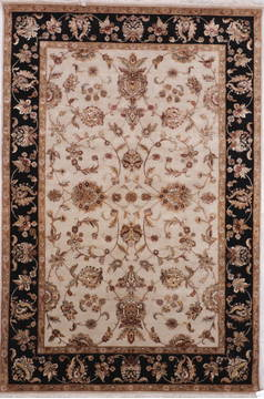 "Jaipur White Hand Knotted 6'2"" X 9'3""  Area Rug 905-115773"