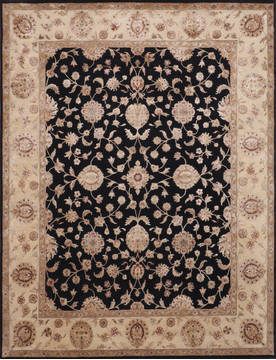 "Jaipur Black Hand Knotted 8'0"" X 10'2""  Area Rug 905-115798"