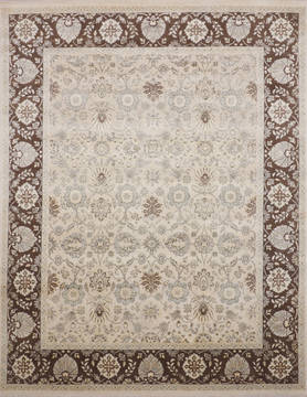 "Jaipur White Hand Knotted 7'11"" X 10'2""  Area Rug 905-115810"