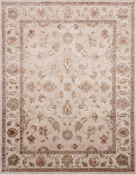 "Jaipur Beige Hand Knotted 8'1"" X 10'3""  Area Rug 905-115812"
