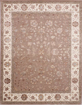 "Jaipur Brown Hand Knotted 8'2"" X 10'3""  Area Rug 905-115813"