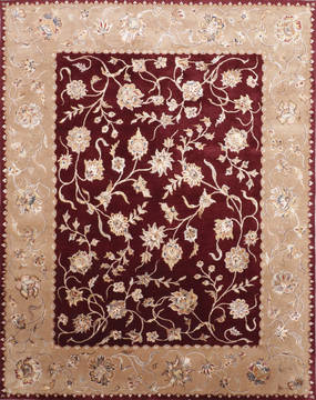 "Jaipur Red Hand Knotted 8'0"" X 10'0""  Area Rug 905-115817"