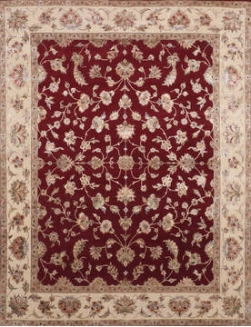 "Jaipur Red Hand Knotted 7'11"" X 10'3""  Area Rug 905-115819"