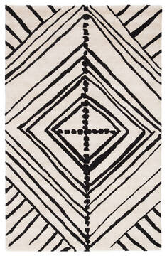 Jaipur Living Etho By Nikki Chu White Rectangle 9x12 ft Wool and Viscose Carpet 117184