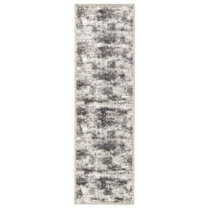 Jaipur Living Fables Grey Runner 6 to 9 ft Acrylic and Rayon and Polyester Carpet 117336