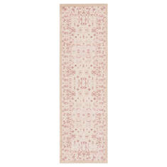 Jaipur Living Fables White Runner 6 to 9 ft Acrylic and Rayon and Polyester Carpet 117366