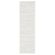 Jaipur Living Fables White Runner 6 to 9 ft Acrylic and Rayon and Polyester Carpet 117388