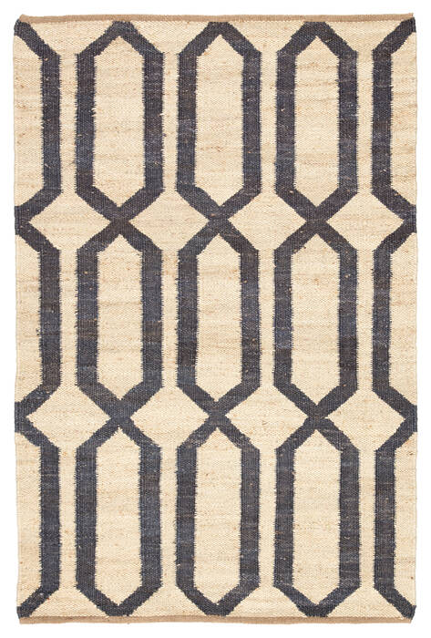 Jaipur Living Feza White Rectangle 8x10 Ft Jute Carpet