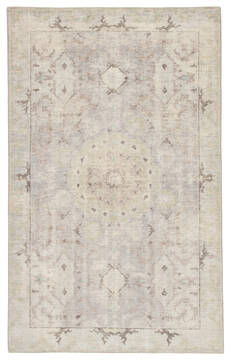 Jaipur Living Kai Grey Rectangle 2x3 ft Wool Carpet 117820