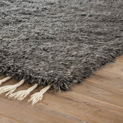 Jaipur Living Tala Grey Rectangle 8x11 Ft Wool Carpet