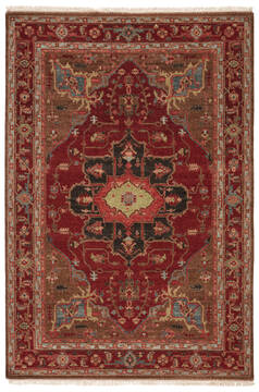Jaipur Living Uptown By Artemis Red Rectangle 6x9 ft Wool Carpet 119414