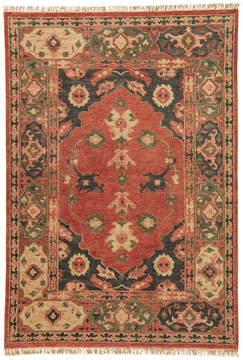 Jaipur Living Village By Artemis Red Rectangle 9x12 ft Wool Carpet 119483