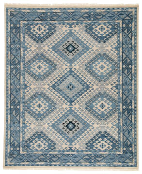 Jaipur Living Village By Artemis Blue Rectangle 8x10 ft Wool Carpet 119488